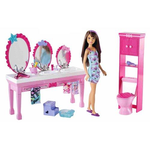 バービー バービー人形 チェルシー スキッパー ステイシー T7535 Barbie Sisters Beauty Fun Bathroom and Skipper Doll Setバービー バービー人形 チェルシー スキッパー ステイシー T7535