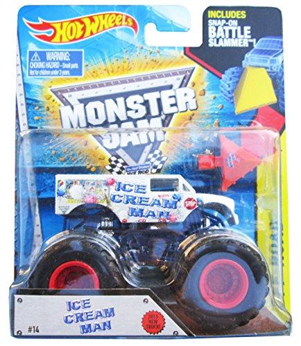 ホットウィール マテル ミニカー ホットウイール Hot Wheels Monster Jam 2015 Ice Cream Man (With Battle Slammer)ホットウィール マテル ミニカー ホットウイール