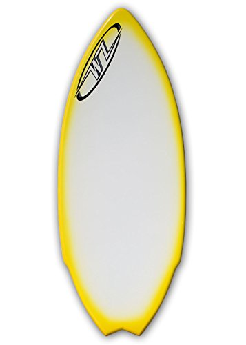 サーフィン スキムボード マリンスポーツ Wave Zone Performance Fish Hook - Fiberglass Skimboard for Riders up to 200 lbs - 51 1/2