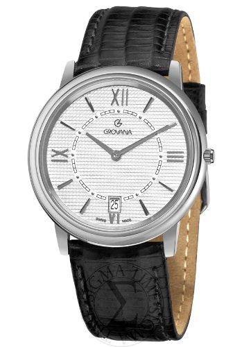 グロバナ スイスウォッチ 腕時計 メンズ 1708-1532 Grovana Men's 1708-1532 Traditional Analog Display Swiss Quartz Black Watchグロバナ スイスウォッチ 腕時計 メンズ 1708-1532