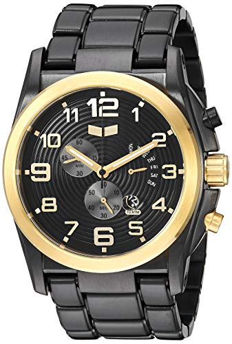 ベスタル ヴェスタル 腕時計 メンズ DEV013 【送料無料】Vestal Men's De Novo Japanese-Quartz Stainless-Steel Strap, Black, 27.9 Casual Watch (Model: DEV013)ベスタル ヴェスタル 腕時計 メンズ DEV013