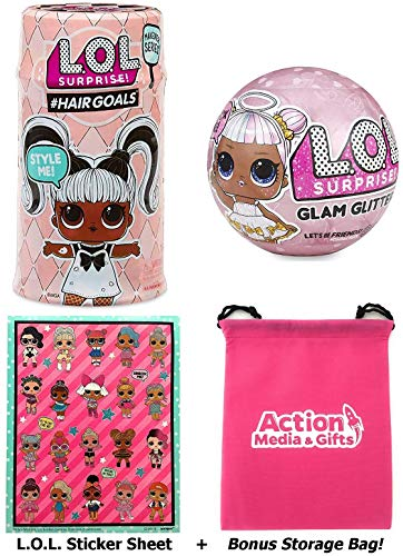 Surprise L.O.L #Hairgoals Makeover Series BONUS Scratch Sniff Cherry Stickers!