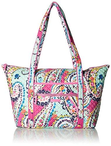 ヴェラブラッドリー パスケース IDケース 定期入れ ベラブラッドリー 【送料無料】Vera Bradley Women's Signature Cotton Miller Tote Travel Bag, Wildflower Paisleyヴェラブラッドリー パスケース IDケース 定期入れ ベラブラッドリー