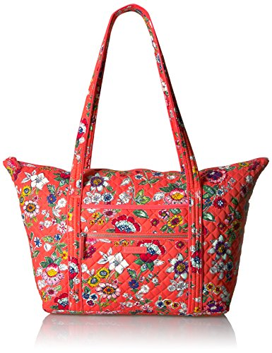 ヴェラブラッドリー パスケース IDケース 定期入れ ベラブラッドリー 【送料無料】Vera Bradley Women's Signature Cotton Miller Tote Travel Bag, Coral Floralヴェラブラッドリー パスケース IDケース 定期入れ ベラブラッドリー
