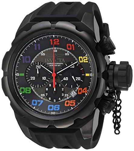インヴィクタ インビクタ 腕時計 メンズ 【送料無料】Invicta Men's Russian Diver Stainless Steel Quartz Watch with Silicone Strap, Black, 34 (Model: 22421)インヴィクタ インビクタ 腕時計 メンズ