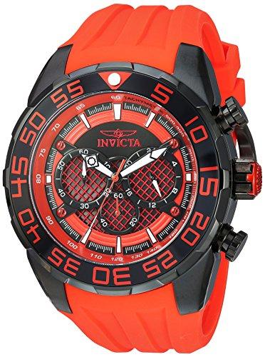 インヴィクタ インビクタ 腕時計 メンズ Invicta Men's 'Speedway' Quartz Stainless Steel and Silicone Casual Watch, Color:red (Model: 26310)インヴィクタ インビクタ 腕時計 メンズ