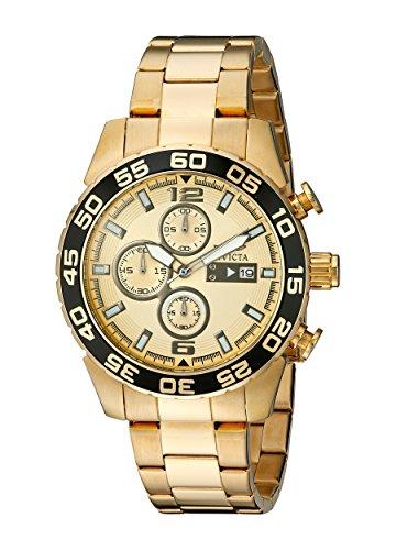 インヴィクタ インビクタ 腕時計 メンズ 【送料無料】Invicta Men's 1016 II Collection Chronograph Gold Dial 18k Gold-Plated Stainless Steel Watchインヴィクタ インビクタ 腕時計 メンズ