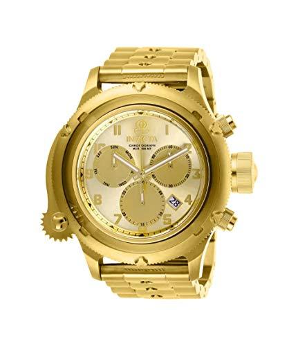 インヴィクタ インビクタ 腕時計 メンズ 【送料無料】Invicta Men's Russian Diver Quartz Stainless-Steel Strap, Gold, 21 Casual Watch (Model: 26463)インヴィクタ インビクタ 腕時計 メンズ