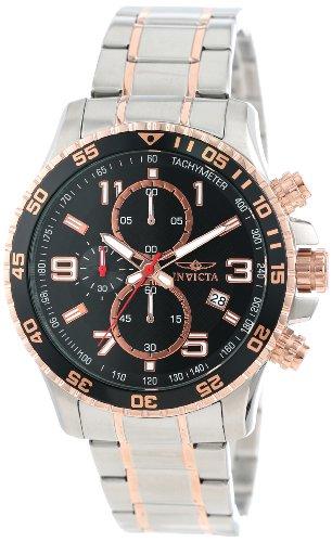 腕時計 インヴィクタ インビクタ メンズ 【送料無料】Invicta Men's 14877 Specialty Chronograph Black Textured Dial Two Tone Stainless Steel Watch腕時計 インヴィクタ インビクタ メンズ