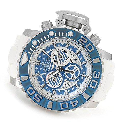 インヴィクタ インビクタ 腕時計 メンズ Invicta Men's 'Sea Hunter' Quartz Stainless Steel and Polyurethane Casual Watch, Color:White (Model: 18828)インヴィクタ インビクタ 腕時計 メンズ