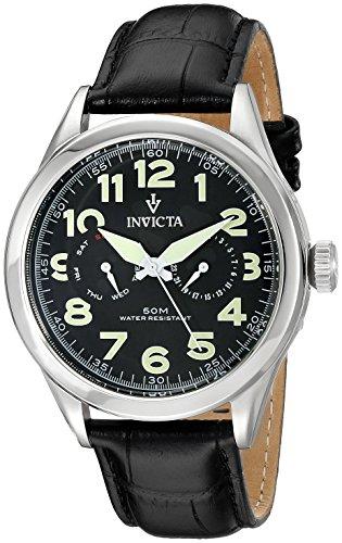 インヴィクタ インビクタ 腕時計 メンズ Invicta Men's 11741 Vintage Master Calendar Black Dial Black Leather Watchインヴィクタ インビクタ 腕時計 メンズ