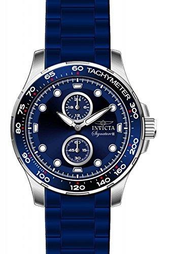 インヴィクタ インビクタ 腕時計 メンズ Invicta Signature Blue Dial Blue Ion-plated Mens Watch 7082インヴィクタ インビクタ 腕時計 メンズ