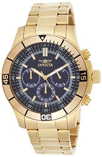 インヴィクタ インビクタ 腕時計 メンズ 【送料無料】Invicta Men's 12844 Specialty Chronograph 18k Gold Ion-Plated Stainless Steel and Blue Dial Watchインヴィクタ インビクタ 腕時計 メンズ