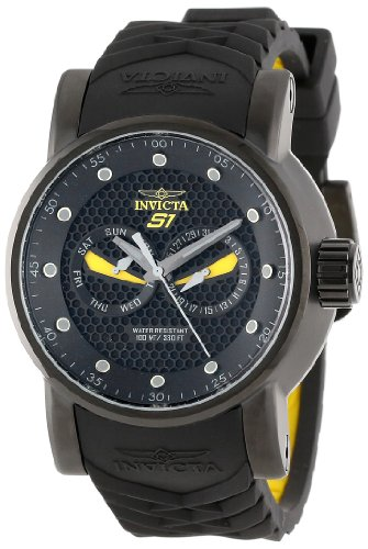 インヴィクタ インビクタ 腕時計 メンズ Invicta Men's 12789 S1 Rally Black Textured Dial Black and Yellow Silicone Watchインヴィクタ インビクタ 腕時計 メンズ
