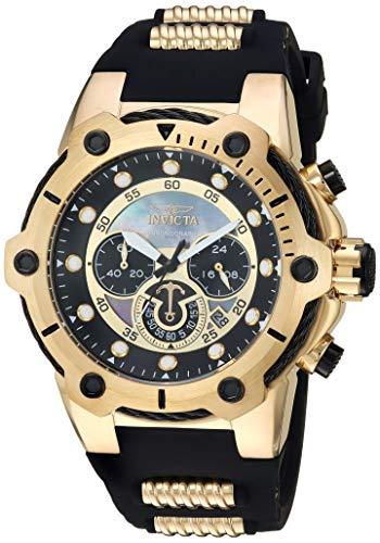 """インヴィクタ インビクタ 腕時計 メンズ 【送料無料】Invicta Men""""s Bolt Stainless Steel Quartz Watch with Polyurethane Strap, Two Tone, 23.5 (Model: 26815)インヴィクタ インビクタ 腕時計 メンズ"""