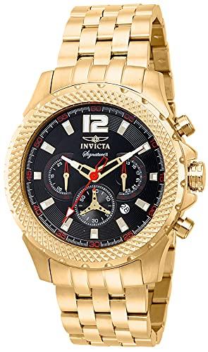 インヴィクタ インビクタ 腕時計 メンズ Invicta Signature II Chronograph Black Dial Gold-tone Stainless Steel Mens Watch 7474インヴィクタ インビクタ 腕時計 メンズ