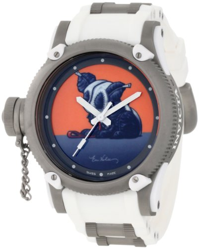 インヴィクタ インビクタ 腕時計 メンズ 【送料無料】Invicta Men's 11153 Russian Diver Panda Suit Orange Artist Series Dial White Polyurethane Watchインヴィクタ インビクタ 腕時計 メンズ
