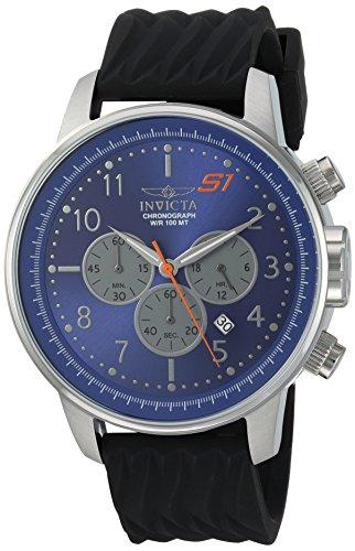 インヴィクタ インビクタ 腕時計 メンズ 【送料無料】Invicta Men's S1 Rally Stainless Steel Quartz Watch with Silicone Strap, Black, 22 (Model: 23812)インヴィクタ インビクタ 腕時計 メンズ