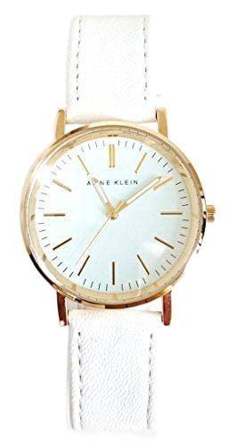 アンクライン 腕時計 レディース AK/1780WTWT Anne Klein Women's AK/1780WTWT White Dial Gold Detail and White Braceletアンクライン 腕時計 レディース AK/1780WTWT