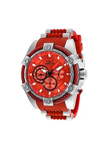 インヴィクタ インビクタ ボルト 腕時計 メンズ New Mens Invicta 25525 53mm Bolt Chronograph Red Silicone Strap Watchインヴィクタ インビクタ ボルト 腕時計 メンズ