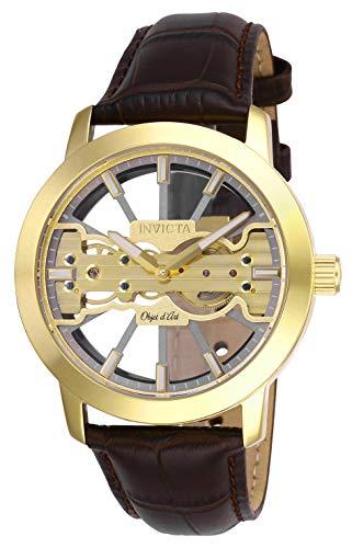 インヴィクタ インビクタ 腕時計 メンズ Invicta Men's 25266 Objet D Art Mechanical 2 Hand Grey, Gold Dial Watchインヴィクタ インビクタ 腕時計 メンズ