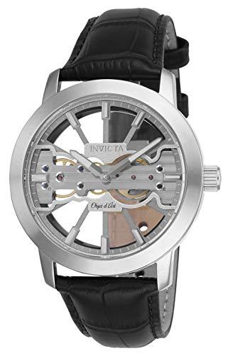 インヴィクタ インビクタ 腕時計 メンズ 【送料無料】Invicta Men's Objet D Art Stainless Steel Mechanical Watch with Leather Strap, Black, 24 (Model: 25265)インヴィクタ インビクタ 腕時計 メンズ