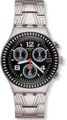 腕時計 スウォッチ メンズ 夏の腕時計特集 【送料無料】Swatch Men's Ethnic YCS576G Silver Stainless-Steel Swiss Quartz Watch with Black Dial腕時計 スウォッチ メンズ 夏の腕時計特集