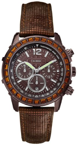 ゲス GUESS 腕時計 レディース Guess Watch, Women's Chronograph Bronze Tone Textured Leather Strap U0017L4ゲス GUESS 腕時計 レディース