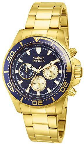 インヴィクタ インビクタ プロダイバー 腕時計 メンズ Invicta Men's 12918 Pro Diver Chronograph Dark Blue Textured Dial 18k Gold Ion-Plated Stainless Steel Watchインヴィクタ インビクタ プロダイバー 腕時計 メンズ