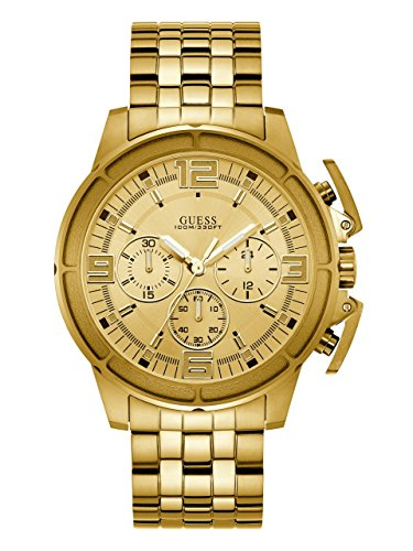 ゲス GUESS 腕時計 メンズ GUESS Men's Japanese Quartz Watch with Stainless Steel Strap, Gold, 21: ((Model: U1114G2))ゲス GUESS 腕時計 メンズ