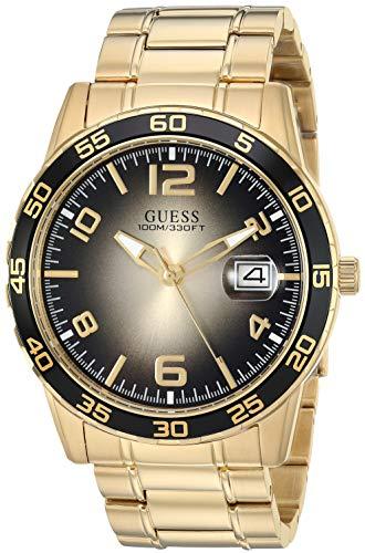 ゲス GUESS 腕時計 メンズ GUESS Stainles Steel Gold-Tone Watch with Black Dial + Date Function. Color: Gold-Tone (Model: U1172G3)ゲス GUESS 腕時計 メンズ