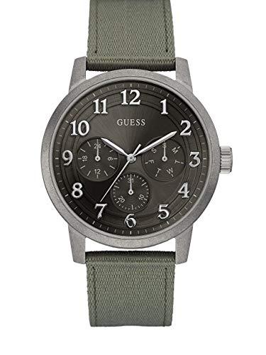 ゲス GUESS 腕時計 メンズ 【送料無料】GUESS Factory Men's Green and Silver-Tone Multifunction Watchゲス GUESS 腕時計 メンズ