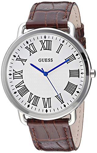 ゲス GUESS 腕時計 メンズ 【送料無料】GUESS Men's Stainless Steel Quartz Watch with Leather Calfskin Strap, Brown, 20.1 (Model: U1164G1)ゲス GUESS 腕時計 メンズ