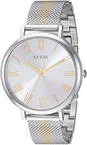 ゲス GUESS 腕時計 レディース GUESS Stainless Steel + Gold-Tone Mesh Bracelet Watch. Color: Silver/Gold-Tone (Model: U1155L1)ゲス GUESS 腕時計 レディース