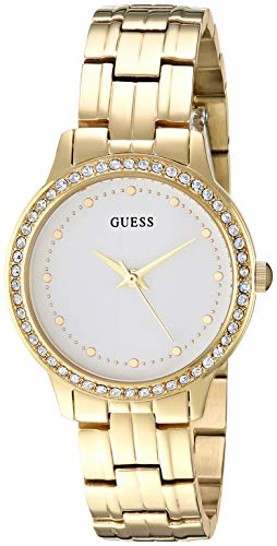 ゲス GUESS 腕時計 レディース GUESSS Gold-Tone Stainless Steel Crystal Bracelet Watch. Color: Silver-Tone (Model: U1209L2)ゲス GUESS 腕時計 レディース