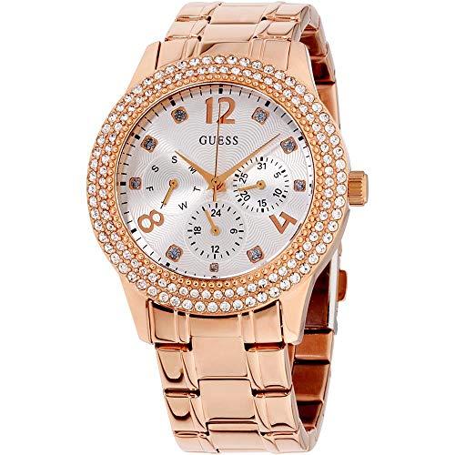 ゲス GUESS 腕時計 レディース Guess Bedazzle Rose Gold Dial Stainless Steel Ladies Watch W1097L3ゲス GUESS 腕時計 レディース