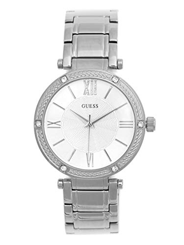 ゲス GUESS 腕時計 レディース 【送料無料】GUESS Factory Women's Silver-Tone Analog Watchゲス GUESS 腕時計 レディース