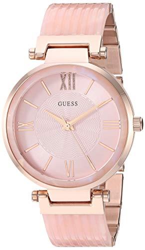 ゲス GUESS 腕時計 レディース 【送料無料】GUESS Women's Stainless Steel Quartz Watch with Resin Strap, Pink, 18 (Model: U0638L9)ゲス GUESS 腕時計 レディース