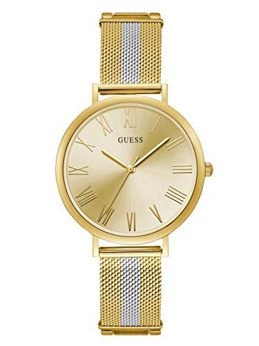 ゲス GUESS 腕時計 レディース 【送料無料】GUESS Stainless Steel + Gold-Tone Mesh Bracelet Watch. Color: Silver/Gold-Tone (Model: U1155L3)ゲス GUESS 腕時計 レディース