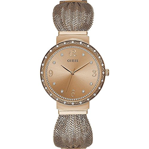 ゲス GUESS 腕時計 レディース Guess Chiffon Quartz Movement Rose Gold Dial Ladies Watch W1083L3ゲス GUESS 腕時計 レディース