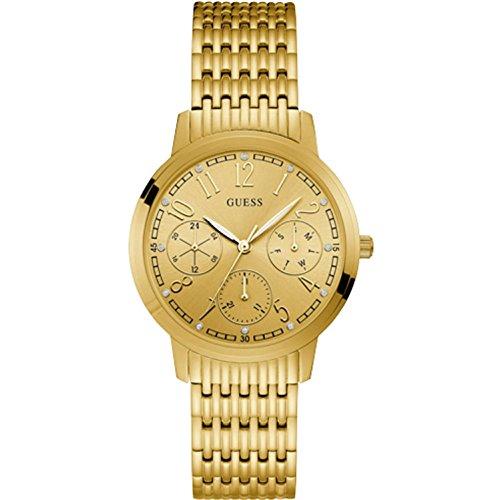 ゲス GUESS 腕時計 レディース Guess Lattice Gold Dial Stainless Steel Ladies Watch W1088L1ゲス GUESS 腕時計 レディース