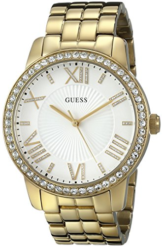 ゲス GUESS 腕時計 レディース GUESS Women's U0329L2 Dazzling Oversized Gold-Tone Watch with Roman Numerals & Genuine Crystalsゲス GUESS 腕時計 レディース