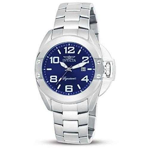 インヴィクタ インビクタ 腕時計 メンズ 【送料無料】Invicta Signature II Blue Dial Stainless Steel Mens Watch 7330インヴィクタ インビクタ 腕時計 メンズ