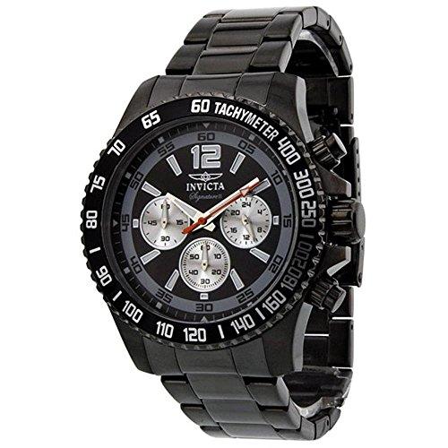 インヴィクタ インビクタ 腕時計 メンズ 【送料無料】Invicta Signature II Divers Chronograph Black Dial Mens Watch 7412インヴィクタ インビクタ 腕時計 メンズ