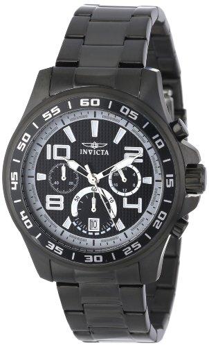 インヴィクタ インビクタ 腕時計 メンズ Invicta Men's 14395 Specialty Chronograph Black and Grey Dial Black Ion Plated Stainless Steel Watchインヴィクタ インビクタ 腕時計 メンズ