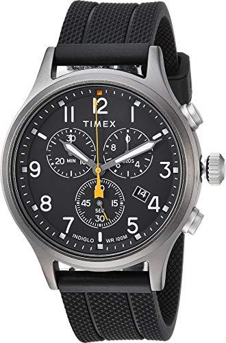 タイメックス 腕時計 メンズ 【送料無料】Timex Allied Chrono Silicone Black/Black One Sizeタイメックス 腕時計 メンズ