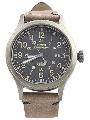 タイメックス 腕時計 メンズ 【送料無料】Timex Expedition Scout Metal - Brown Leather/Gray Dialタイメックス 腕時計 メンズ
