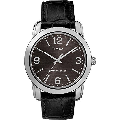 タイメックス 腕時計 メンズ 【送料無料】Timex Men's TW2R86600 Classic 39mm Black/Silver-Tone Croco Pattern Leather Strap Watchタイメックス 腕時計 メンズ