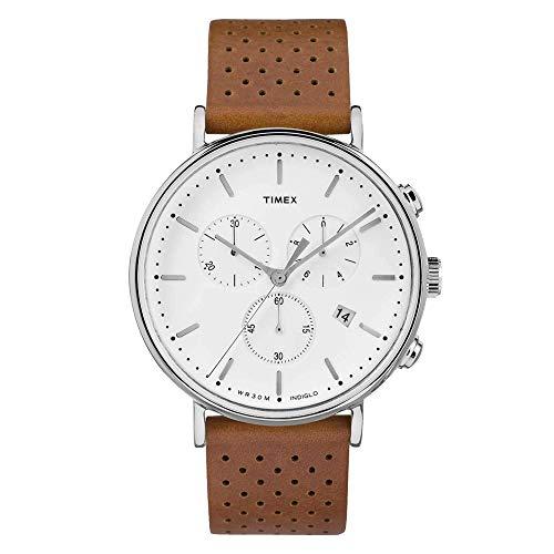 タイメックス 腕時計 メンズ Timex Unisex Fairfield Chrono Leather Brown/White One Sizeタイメックス 腕時計 メンズ