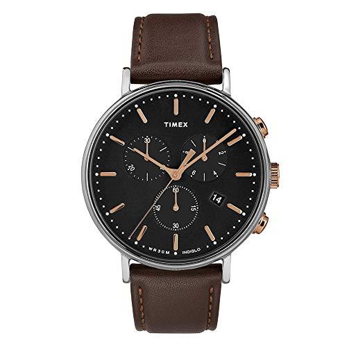 タイメックス 腕時計 メンズ Timex Unisex Fairfield Chrono Black/Brown One Sizeタイメックス 腕時計 メンズ
